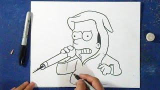 Como desenhar o Bart - Os Simpsons