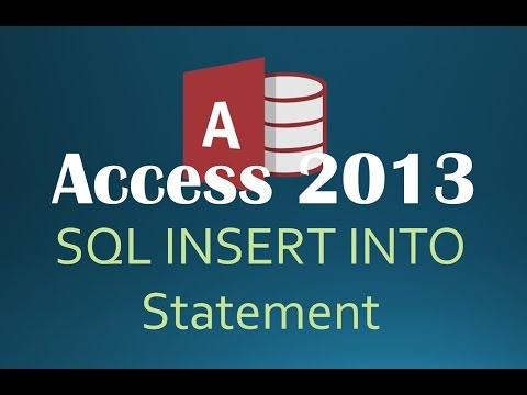 73. SQL Appending Rows Using INSERT INTO (Programming In Access 2013)