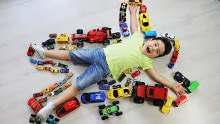 Yusuf'un Oyuncak Arabaları! Kids pretend play with Toy Cars-Funny Kids Video