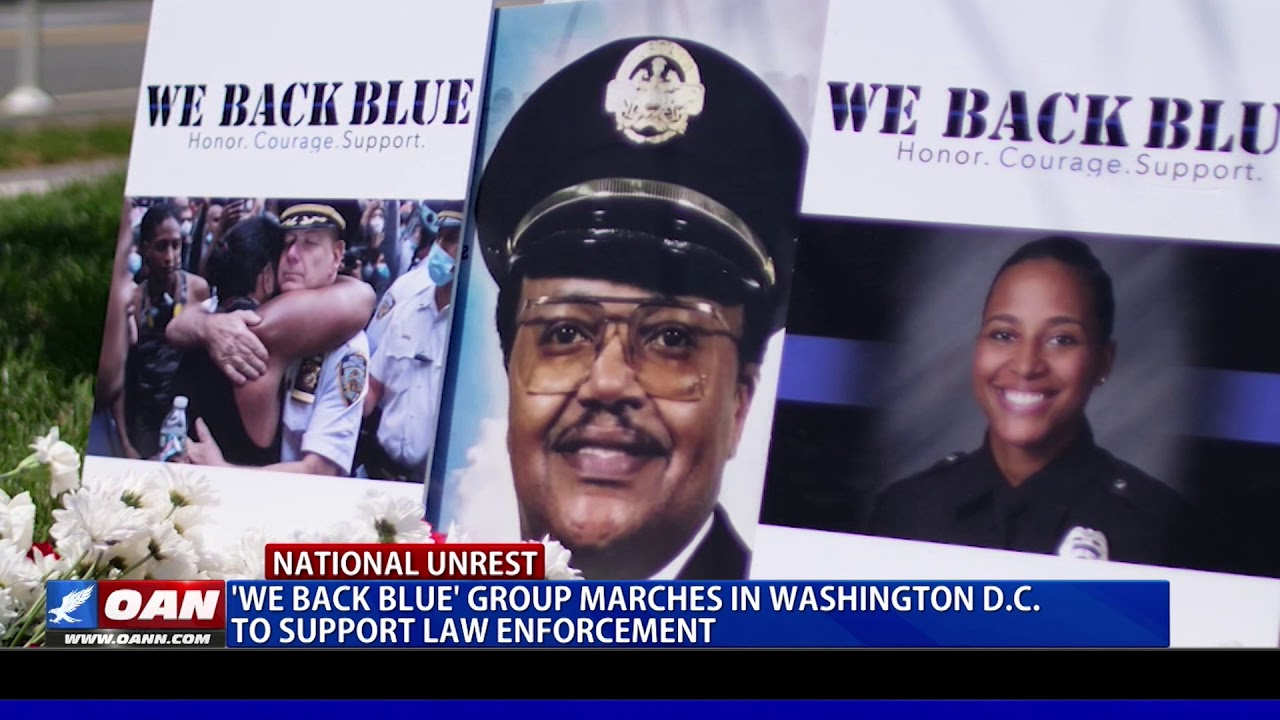 'We Back Blue' group marches in Washington, D.C. to support law enforcement