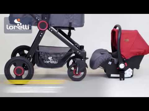 Blau Lorelli 2in1 Kombikinderwagen Alexa Set