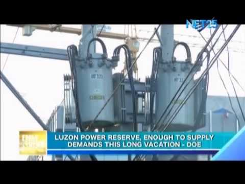 Luzon power reserve, enough to supply demands this long vacation - DOE