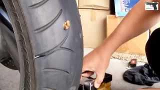 Oprava pneumatiky knotem