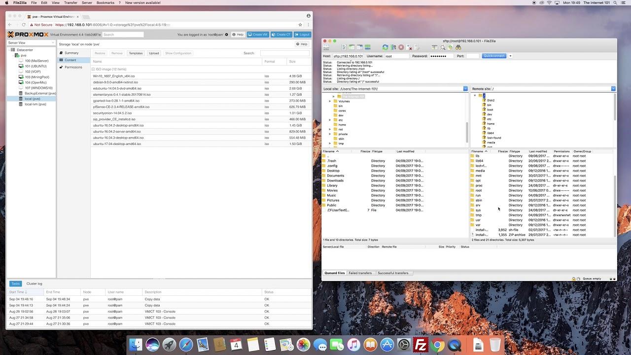 Proxmox VE 5 - Upload ISO File