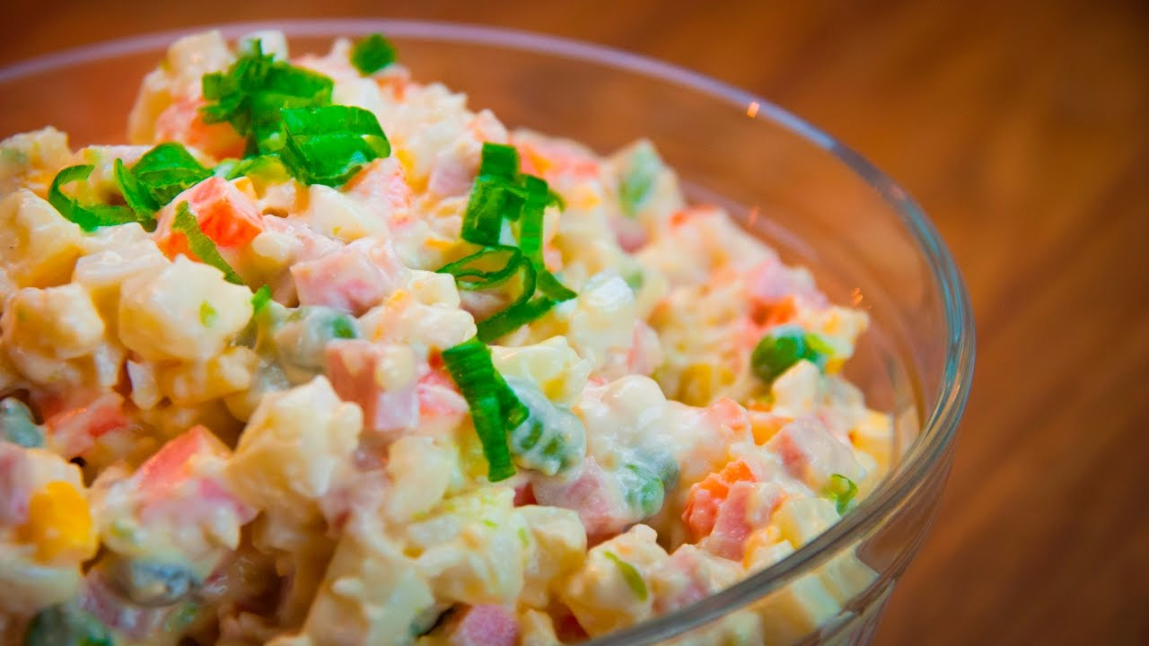 how to make russian olivier salad christmas dinner