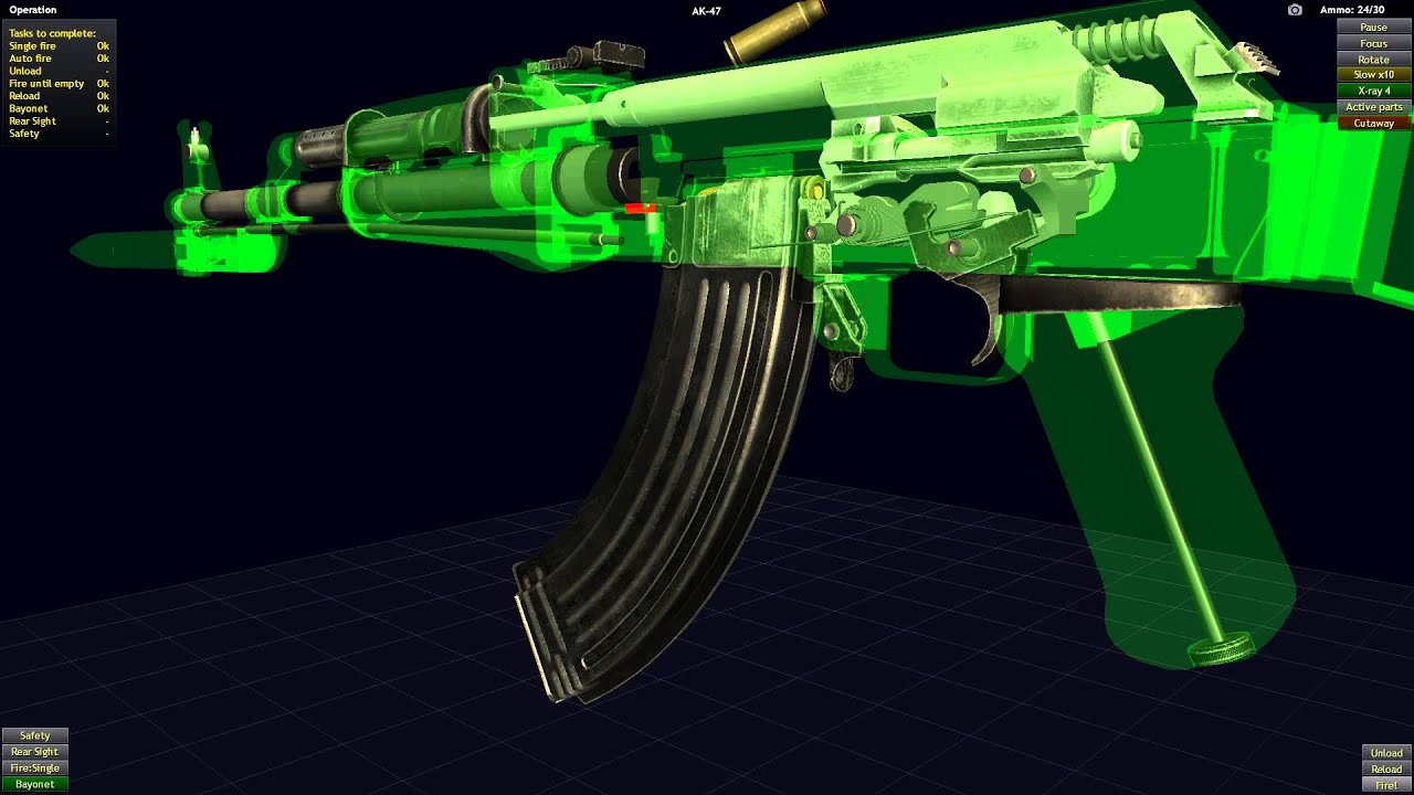 Ak 47 x ray cutaway slow motion firing simulation youtube pooptronica Images