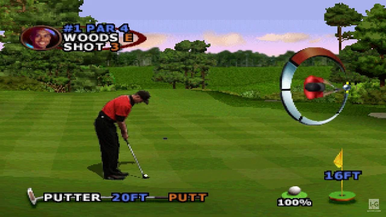 Tiger Woods Pga Tour 2000 Ps1 Gameplay Hd