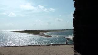 Dry Tortugas National Park - Fort Jefferson on the second deck looking out over Bird Key