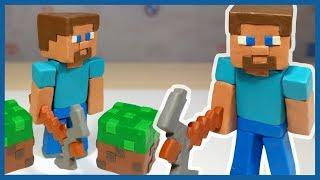 Как слепить Стива из пластилина. Майнкрафт. Minecraft. Plasticine.
