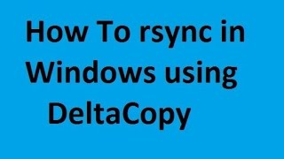 Rsync in Windows