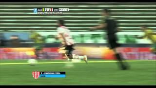 Gol de Malcorra. Aldosivi 0 - Unión 2. Fecha 6. Primera División 2015. FPT.