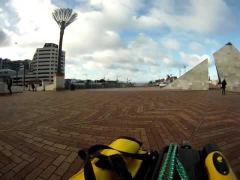 Through the pyramid - Civic Square, Wellington
