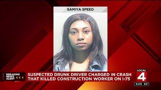 Suspected drunk driver charged in crash that killed construction worker