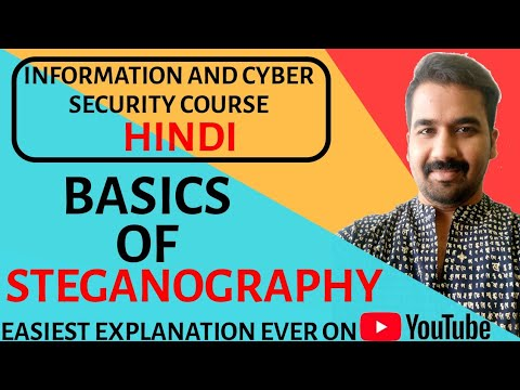Basics of Steganography ll Information and Cyber Security Course Explained  with Examples In Hindi