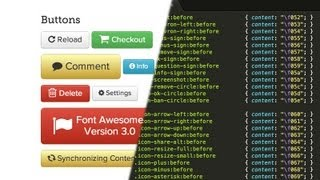 How to install & use Font Awesome 3 0