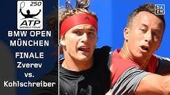 Alexander Zverev - Philipp Kohlschreiber | BMW Open Finale | ATP München | Highlights | DAZN Tennis