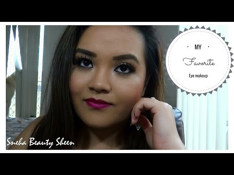 Golden Shimmery eye makeup look + Silicon sponge makeup blender application and review