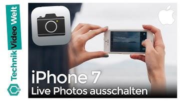 iPhone 7 Live Photos ausschalten