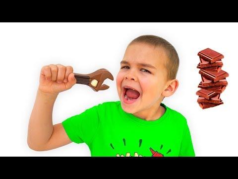 Дима и Папа история для детей про вредные сладости и конфеты