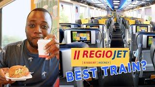 RegioJet Train Review | The BEST TRAIN in EUROPE ? - Prague to Vienna in 4K