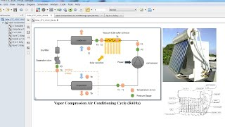 Solar Thermal ETC | Vapor Compression Air Conditioning | R410a | Matlab | Simulink Model