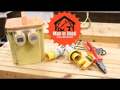 How A 110 Volt Site Transformer Works. How To Wire A 110v Plug. Electrical Basics 3