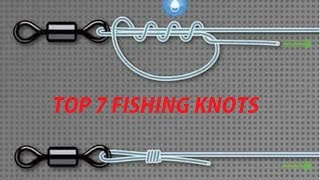 Top 7 Fishing Knots for hooks, lures and lines