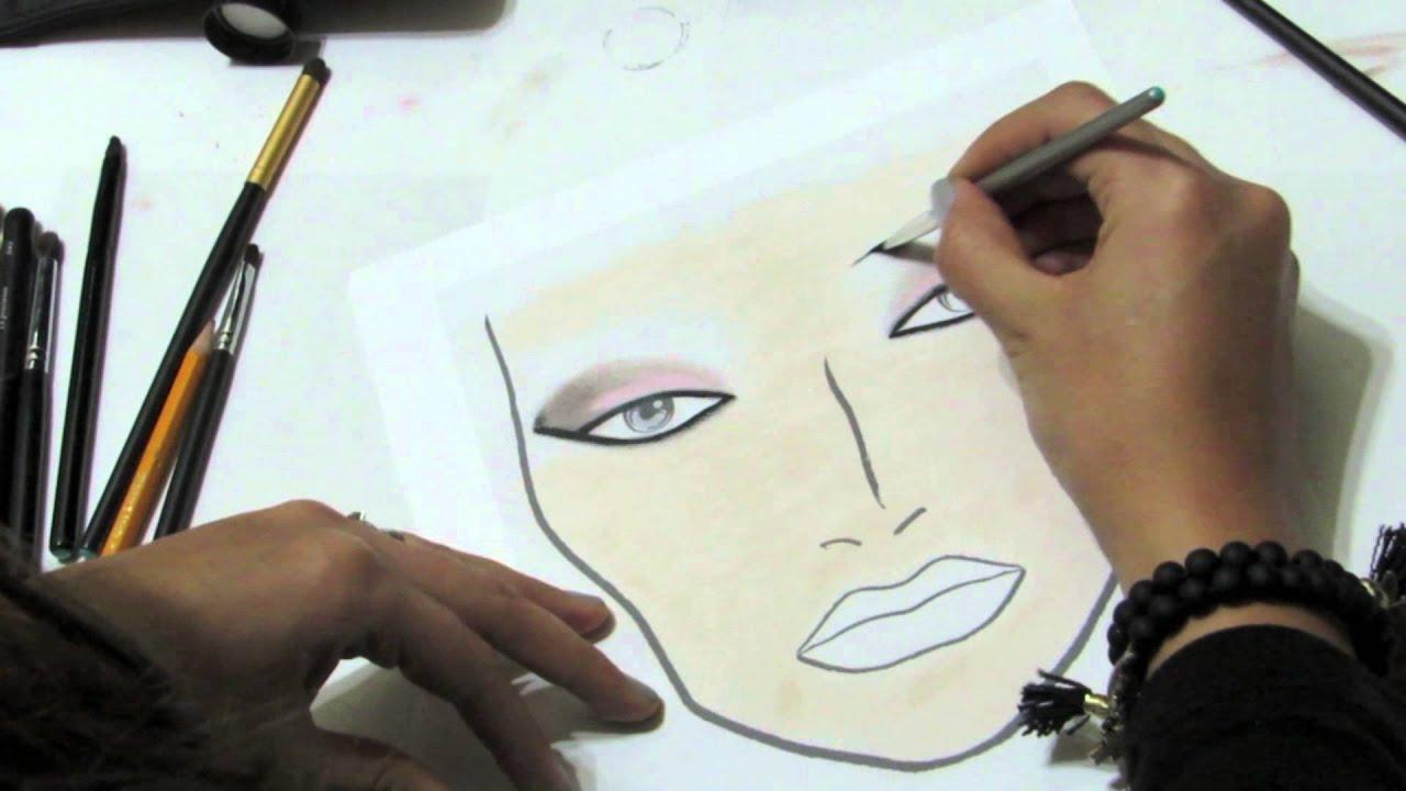 Practica tu maquillaje en PAPEL. - YouTube