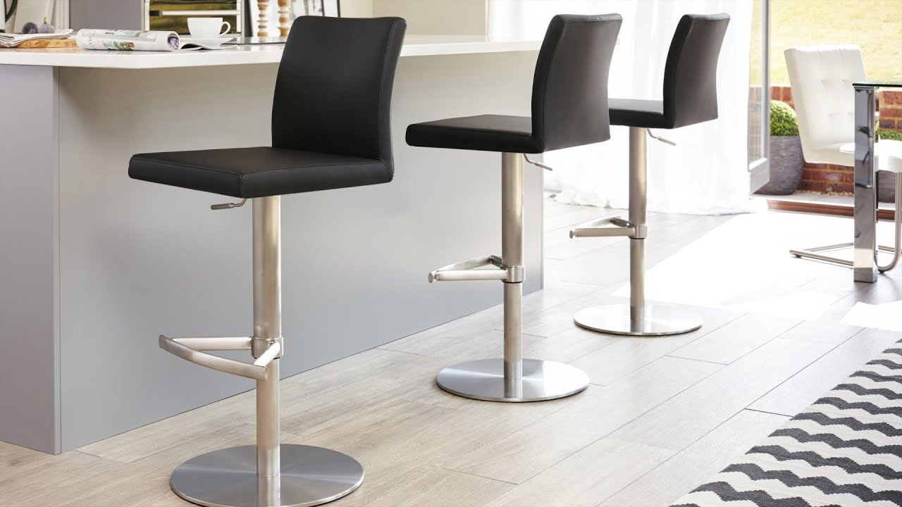 Stylish Stainless Steel Gas Lift Barstool Youtube
