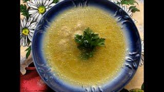 Рисовый суп с фрикадельками на скорую руку.