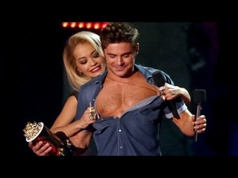 Zac Efron Gets Stripped By Rita Ora at MTV Movie Awards 2014