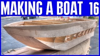 How To Build A Mini Wooden Boat - Wooden Strip Hull On The Plywood Boat #16