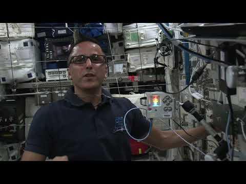 Joe Acaba and Astro Pi anniversary greeting for Columbus