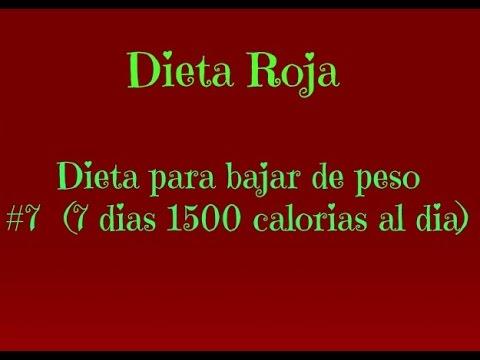 Dietas para bajar de peso de 1500 calorias