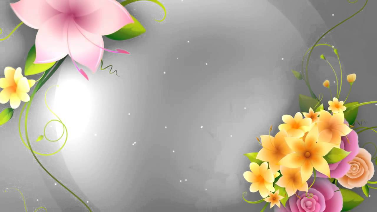 Full HD Flower animation background - YouTube