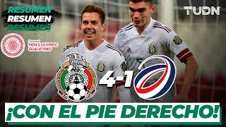 Resumen y goles   México 4-1 Rep Dominicana   Preolímpico Tokyo 2020   TUDN