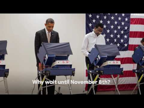 President Barack Obama on early voting | Hillary Clinton