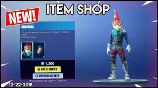 *NEW* Grimbles Skin & Cold Snap - Fortnite Item shop [December 22nd, 2018] (Fortnite Battle royale)