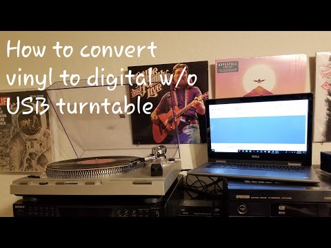 How to Record Vinyl Records to Digital Audio (MP3/WAV) Without A USB Turntable
