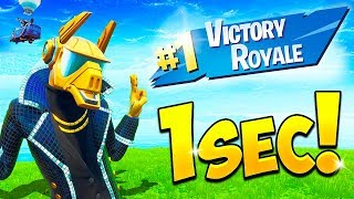 *WORLD RECORD* 1 SECOND WIN!! - BCC Fortnite Funny Moments #654