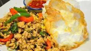 How To Make Thai Basil Chicken ผัดกระเพราไก่ไข่ดาว