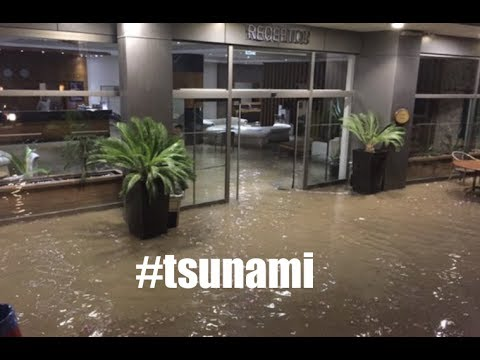 Big Quake generates tsunami / Hotels fill w/water | Solar Wind - Lightning!