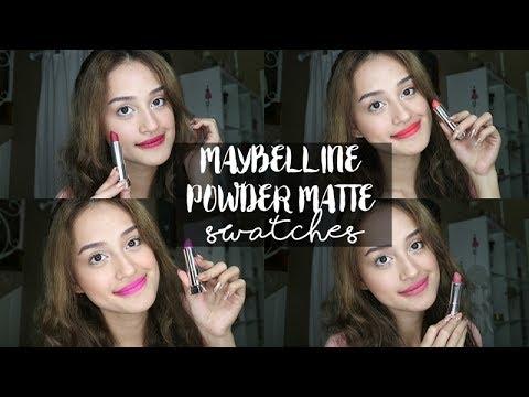 maybelline-powder-matte-lipstick-full-shade-swatch-|-nadya-aqilla