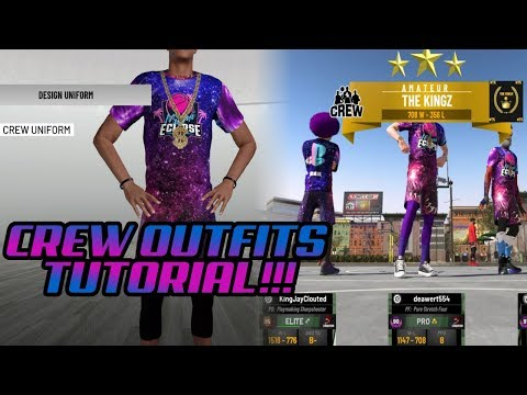 BEST 2K19 CREW CLOTHES!! NBA 2K19 CREW CLOTHES TUTORIAL BEST CREW OUTFITS