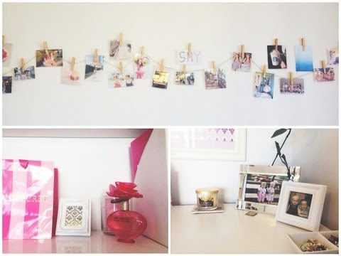 Diy wall decor youtube for Photo decoration