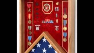 Flag Shadowboxes, Military Flag Shadowbox