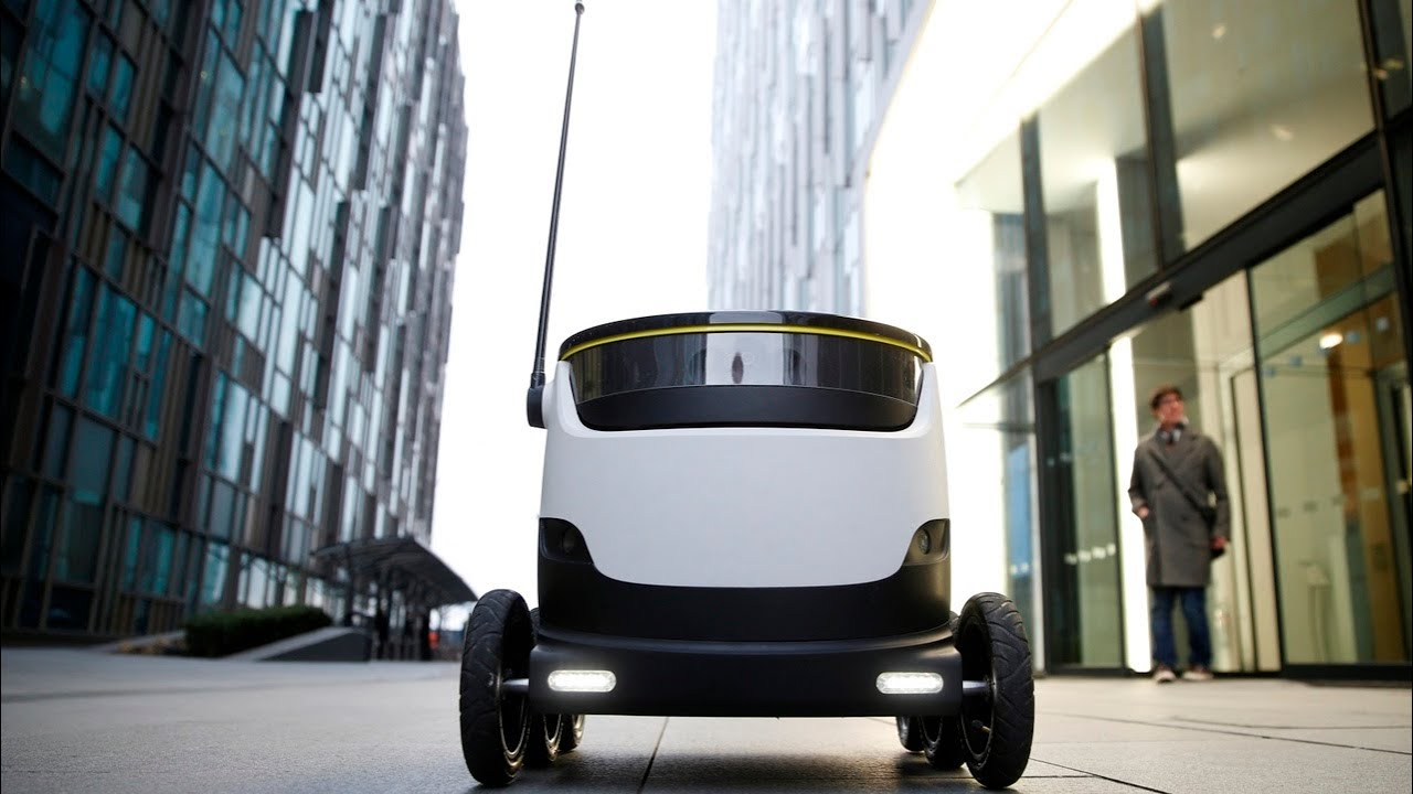 Food delivery Robots used in Colombia during lockdown