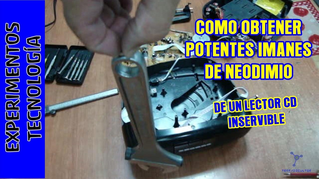 c8909566ced Imanes de neodimio gratis de un reproductor CD que no funciona. Free ...