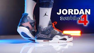 Jordan 4 Sashiko | Deep Ocean | On Foot 4K Review