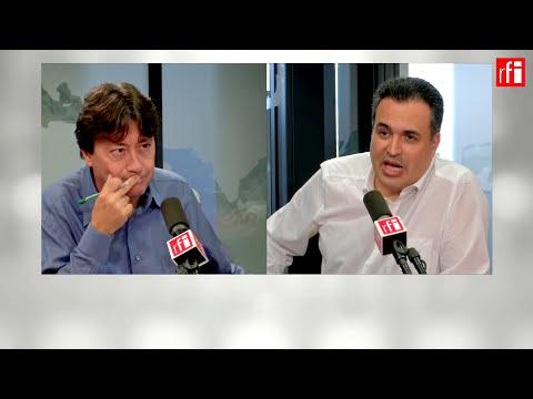 El concertista de guitarra mexicano Mauricio Díaz Álvarez con Jordi Batallé en RFI.